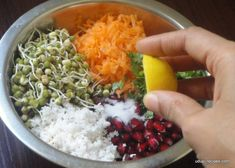 Sprouted moong salad is one of the nutritious and healthy option. I try making the salad protein rich, wholesome and power packed as it is my kids favorite. Veg Salad Recipes, Sprout Recipes, Vegetarian Recipes, Cooking Recipes, Healthy Recipes, Vegetarian Salad, Curry Recipes, Indian Salads, Healthy Snacks