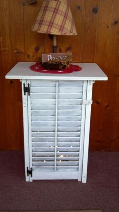 I have the perfect shutters to make 2 of these to use as night stands by the bed! Perfect!
