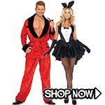 Playboy Couple Costumes - All Couple Costumes via TrendyHalloween.com #trendyhalloween #halloween #halloweencostumes #costumes #playboy