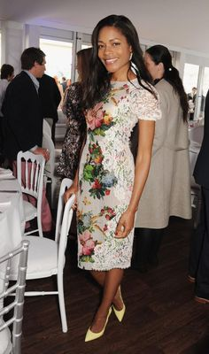 Actress Naomie Harris added a girly touch to the  Audi Royal Polo Challenge 2013 with Prince William at Chester Racecourse on 29 May 2013 in Chester, England.