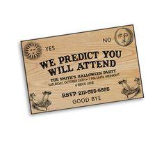 Custom Printable Ouija Board Party Invitation perfect for a Halloween Wedding