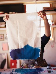Dip dyed napkins - Martha Stewart Living