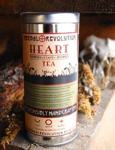 Tea Tins, Revolution, Herbalism, Herbs, Organic, Good Things, Health, Fitness, Etsy