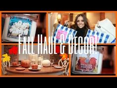 """My """"Fall Haul and Decor: Thanksgiving Table Setting"""" video with products from Bath and Bodyworks and Pier 1"""