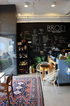Broei Utrecht -- like the blackboard menu for easy changes.