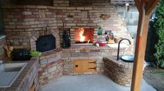 Visit the post for more. Brick Bbq, Pizza Oven Outdoor, Four A Pizza, Barbecue Area, Kitchen Oven, Fancy Houses, Primitive Kitchen, Summer Kitchen, Outdoor Projects