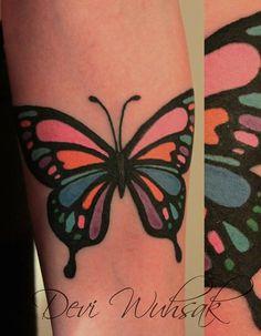 #DeviWuhsak #tattoo #art #ink #inklove #tatuaje #arte #mariposa #butterfly #mariposacolorida #tatuajedemariposa