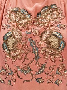 Detail of the embroidery on an evening blouse by Elsa Schiaparelli, summer 1940.
