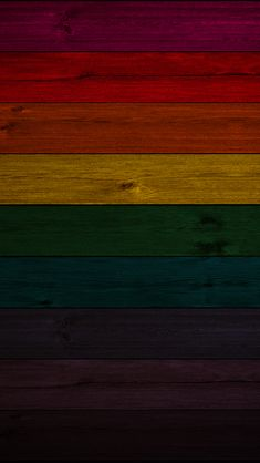 Rainbow Wood iPhone Wallpaper