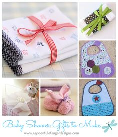 Making gifts for a baby shower to welcome a new arrival is a lot of fun. Baby projects don't need a lot of materials and are fairly quick to whip up. Here is a round-up of our most popular baby gift/baby shower ideas. Click on the link under the photo to be taken to the...Read More »