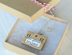 DIY Ruler Necklace - Make an adorable DIY necklace for your favorite teacher.