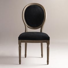 Restoration Hardware Vintage French Round Upholstered Side Chair - Copy Cat Chic