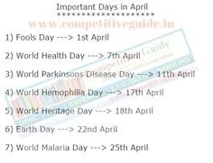 You can find list of Important Days in February that we celebrate. Click here  for other ...