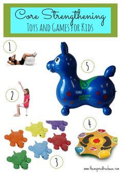 Today, we're sharing some of our favorite therapist-approved toys and games that help kids work on core strengthening.