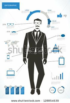 Business man infographic with hipster elements by Antun Hirsman, via Shutterstock