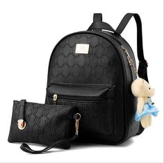 Women Backpack 2017 Fashion Women Leather Backpacks Ladies Girls School Bags Shoulder Bags Female Bag With Toys