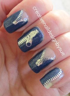 Creative Nail Design by Sue: KKCenterHk zipper water decals and indie
