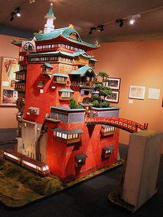 ジブリ立体建造物展開幕「千と千尋の神隠し」の「油屋」を高さ3メートルで完全再現 - フォトギャラリー1 : 映画ニュース - 映画.com Studio Ghibli Art, Studio Ghibli Movies, Hayao Miyazaki, Spirited Away Bathhouse, Totoro, Isometric Design, Film Studio, Fantasy Miniatures, Cool Animations