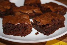 I've tried many brownies, but this is truly the best!!! I found it originally in The Essential New York Times Cookbook and found this blogger posting the recipe and singing it's praises.