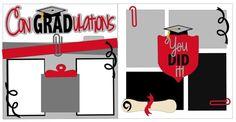 Scrapbook 2 Page Kit Congradulations by StacysPhotoFrenzy on Etsy