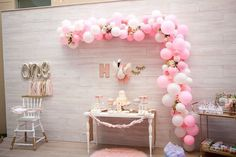 Swooping in with grace, class, and style, we've got a Sweet Swan Birthday Party at Kara's Party Ideas. Ballerina Party Decorations, Ballerina Birthday Parties, Girls Birthday Party Themes, 1st Birthday Girls, Balloon Decorations, Birthday Fun, Lake Party, Birthday Goals, Party Pops