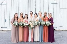 29 Flattering Bridesmaid Dress Colors & Combinations - Sorbet hues {Wildflower Weddings at Bend in the River Farm} 29 Flattering Bridesmaid Dress Colors & Combinations - Sorbet hues {Wildflower Weddings at Bend in the River Farm} Sparkly Bridesmaid Dress, Flattering Bridesmaid Dresses, Spring Bridesmaid Dresses, Bridesmaid Flowers, Wedding Bridesmaids, Blush Wedding Colors, Wedding Attire, Wedding Dresses, Theme Color