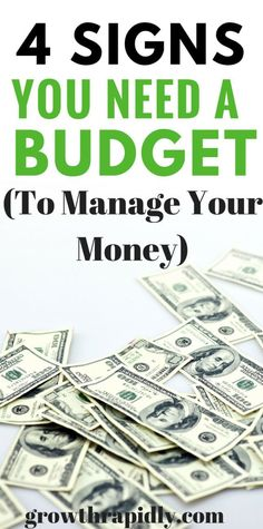 Money management is not easy. But if you see yourself struggling to pay your bills on time or always in debt, this could be a sign that you need a budget to manage your money. How to create a budget, you need a budget, best budget app, best personal finance app, budgeting tips.
