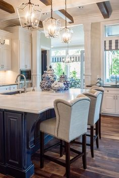 Love the chairs and the flooring, Not the counters or cabinets