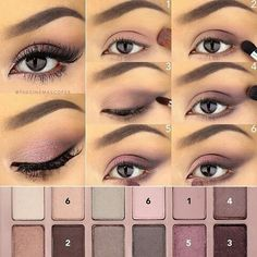 Pink/plum Smokey eye Ft. Maybellune the blushing nudes (?) really pretty for dark eyes and skin.