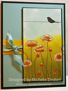 Poppies 1 - MZ by Zindorf - Cards and Paper Crafts at Splitcoaststampers