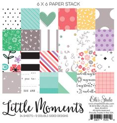 Little Moments scrapbooking collection by Elle's Studio - 6 x 6 paper stack