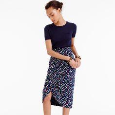 Use the lengthen/shorten line on the Liesl + Co City Stroll Wrap Skirt to make a similar skirt.