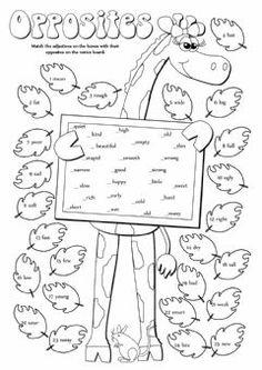 Verbs worksheet for kindergarten, first grade and second