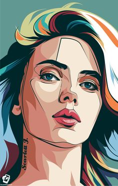 Scarlett j vektor pop syle on behance pop art art, illustration art y pop a Illustration Fantasy, Illustration Vector, Portrait Illustration, Vector Art, Illustrations Posters, Photo Portrait, Portrait Art, Portrait Photography, Cartoon Kunst