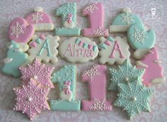One Dozen (12) Winter Onederland Decorated Sugar Cookies on Etsy, $40.00