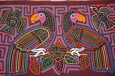 Love molas! Old Kuna Mola Reverse Applique Textile Indian Folk Art, San Blas Islands, Panama
