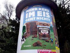 #Ben & Jerry's Eis #Litfaßsäule . April 2015