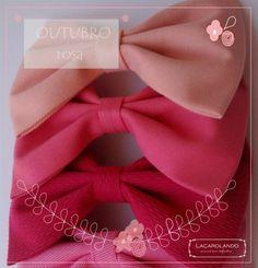 Laços rosa para o Outubro rosa!