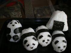 Panda Onigiri by drawar.com: Click through for the how to video link from Miyabi's Kitchen. #Panda #Onigiri
