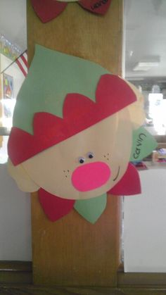 Christmas paper elf preschool craft