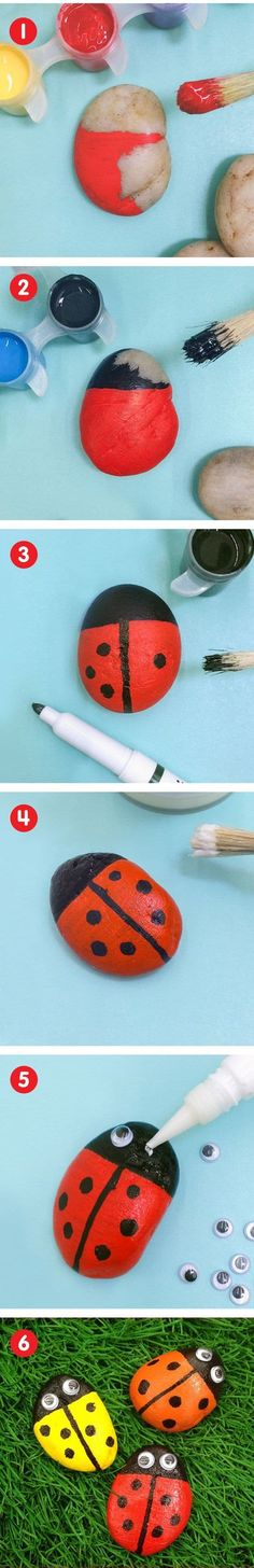 Ladybug Painted Rocks Ideas   How to Make It #paintedrock #rockpainting #ladybug #ladybugpaintedrock #ladybugart