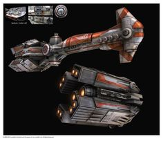 SWTOR – A Thranta-class corvette of the Republic, used years later after Hammerhead-class cruiser.: