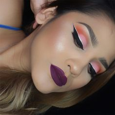 Makeuphall: The Internet`s best makeup, fashion and beauty pics are here. Makeup Inspiration, Makeup Ideas, Dark Lips, Pretty Eyes, Best Makeup Products, Septum Ring, Lashes, Hair Beauty, Make Up