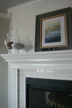 3 Bedroom, 2.5 Bath   Clifton Development Group, LLC. subway tile surround, horizontal wood wall detail, ombre paint chip art, details