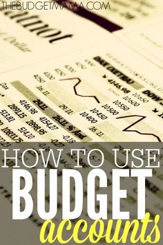 Using budget accounts can be a great way to stay on track with your monthly budget. It makes it easier to know exactly how much you have to spend.