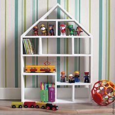 Мебель ручной работы. Ярмарка Мастеров - ручная работа. Купить Кукольный домик (Полка). Handmade. Белый, домик, полка в детскую