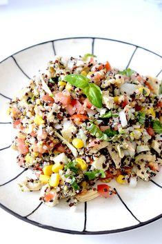 Healthy Mexican Quinoa Salad - Edu Foxy Quinoa Recipes Easy, Quinoa Salad Recipes, Healthy Recipes, Healthy Food, Healthy Life, Diet Recipes, Recipies, Yummy Food, Mexican Quinoa Salad