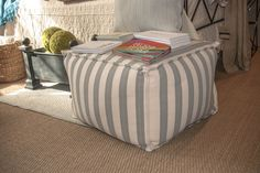 Floor pillows are so nice to have around when company comes! Great for the holidays! Dash And Albert, Floor Pillows, Ottoman, Holidays, Chair, Nice, Room, Furniture, Ideas