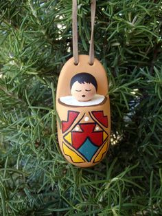 christmas ornament southwest indian baby in cradle 6 western christmas tree southwestern christmas - Southwest Christmas Decorations