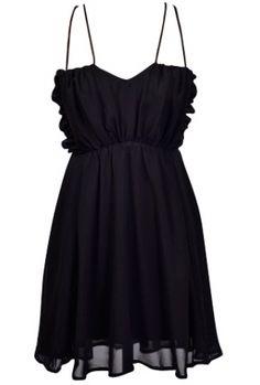 Sweetheart chiffon dress with cross back100% PolyesterLength: 36